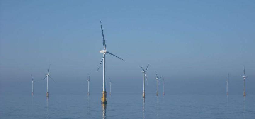 Offshore windfarms in the Irish sea