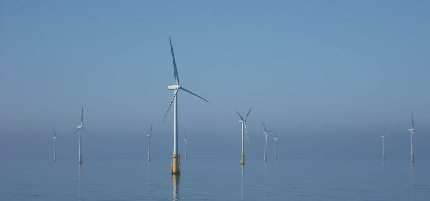 Offshore windfarms in the Irish sea