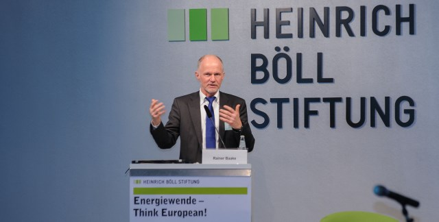"""Rainer Baake speaking at """"Energiewende - Think European!"""""""
