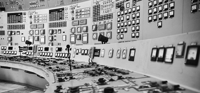 Control board of a nuclear power plant