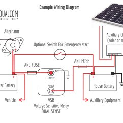 Solar Pv Wiring Diagram Solenoid How A Vsr Voltage Sensitive Relay Works Energy Unlimited For More Information On Our Dual Sense Click Here