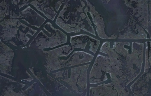 oil industry canals in south Louisiana