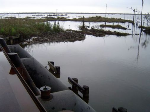 south Louisiana pumping station and high water
