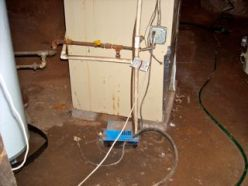 moisture problems, wet soil in a crawl space