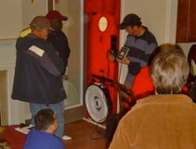 Mike Barcik, teaching Blower Door operation during a HERS rater training class