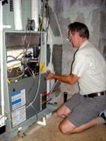 Ken Briggs checking the static pressure