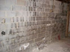 basement moisture problems concrete block wall