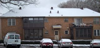 snow on roof heat loss air barrier insulation