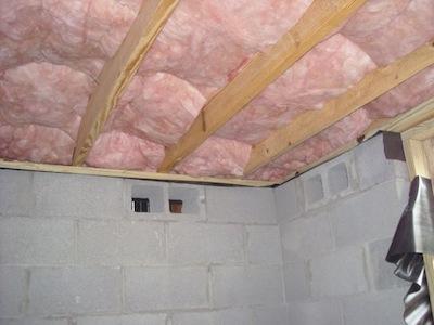 insulation fiberglass batt in framed floor system not Grade I
