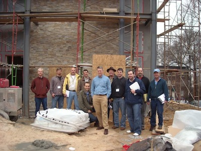 hers home energy rater class field visit spray foam green home