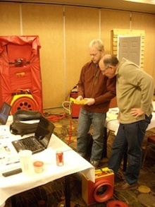 hers home energy rater training hands on pressure testing practice