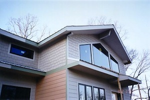 hardiplank siding on structural insulated panel passive solar green home
