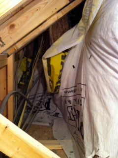 attic kneewall housewrap for sheathing all messed up