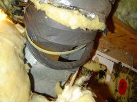 hvac flex duct boot connection no rigid elbow