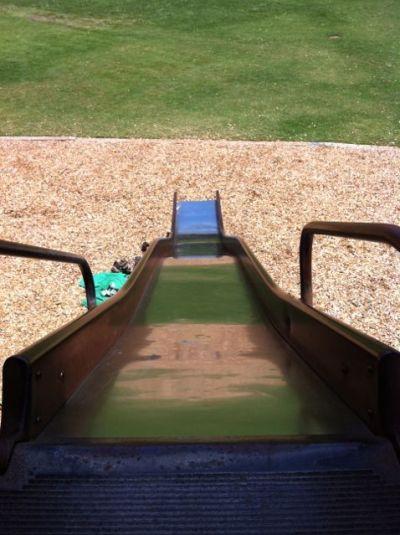 radiant barrier low e emissivity material playground slide down
