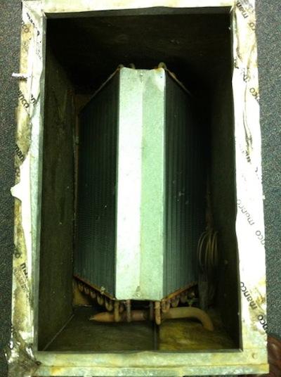 hvac air conditioner evaporator coil dirt and air flow 1
