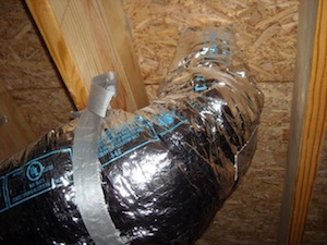 hvac duct boot insulated new home