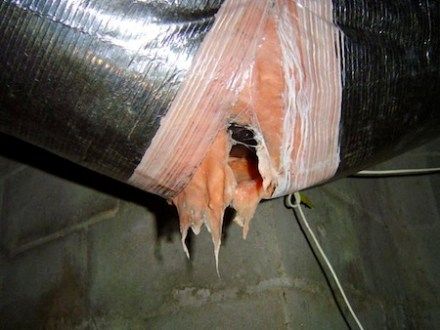 hvac duct boot uninsulated condensation insulation liner blowout