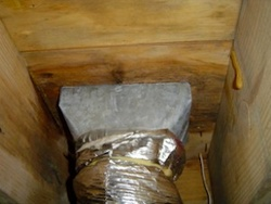 hvac duct boot uninsulated condensation