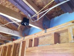 habitat for humanity attic insulation dams and soffit vent baffles nc