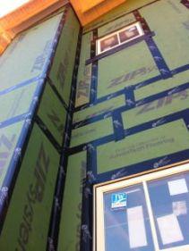 serenbe green home huber zip wall sheathing wrb tape seams