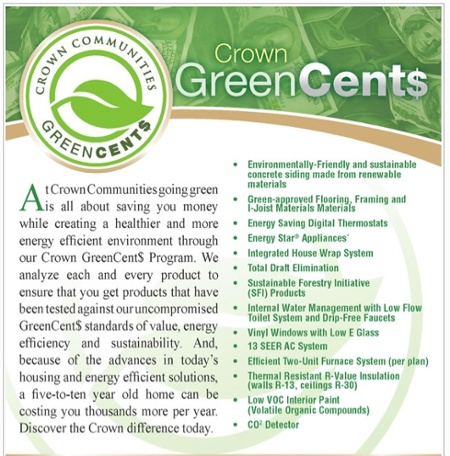 greenwashing home builder crown communities green cents