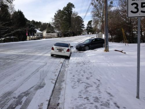 atlanta 2014 snow storm stranded cars