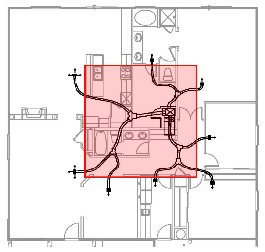 duct system conditioned space modified plenum truss area