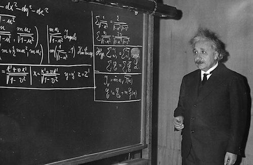 albert einstein chalkboard antimatter 500