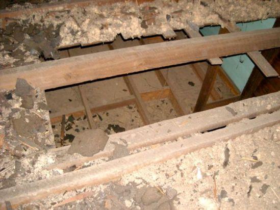 ceiling hole no insulation