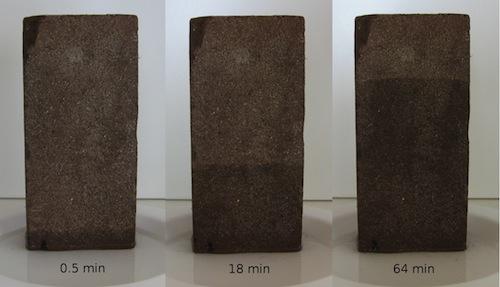 capillary flow brick
