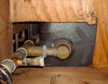 basement moisture problems bathtub hole air leakage