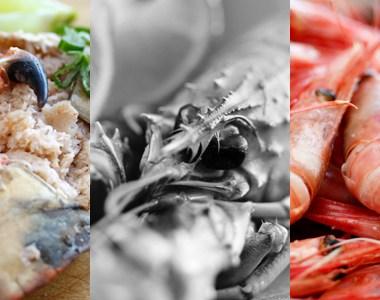 krabbe, sjøkreps og reker