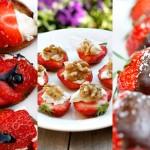 Sommersnacks med jordbær