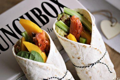bilde av wraps og lunsjboks med lite hjerte