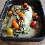 Squash-lasagne med kantareller