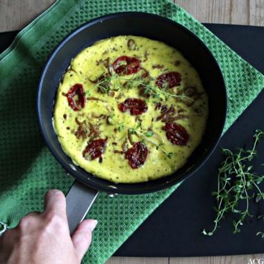 Bilde av omelettpanne sett ovenfra