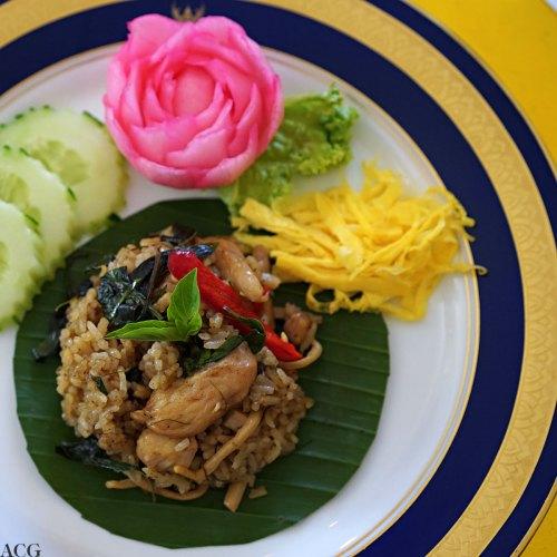 Stekt ris med grønn curry