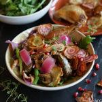 Høstsalat med kyllingconfit