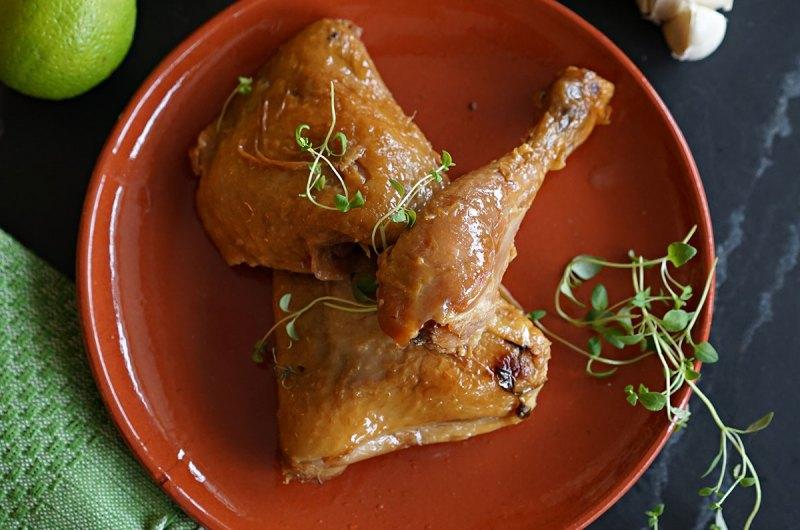 kyllingkonfit med timian og sitrus