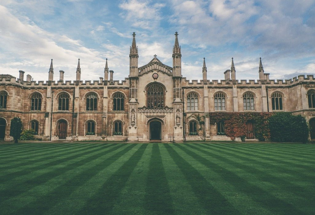 castle, lawn, great britain