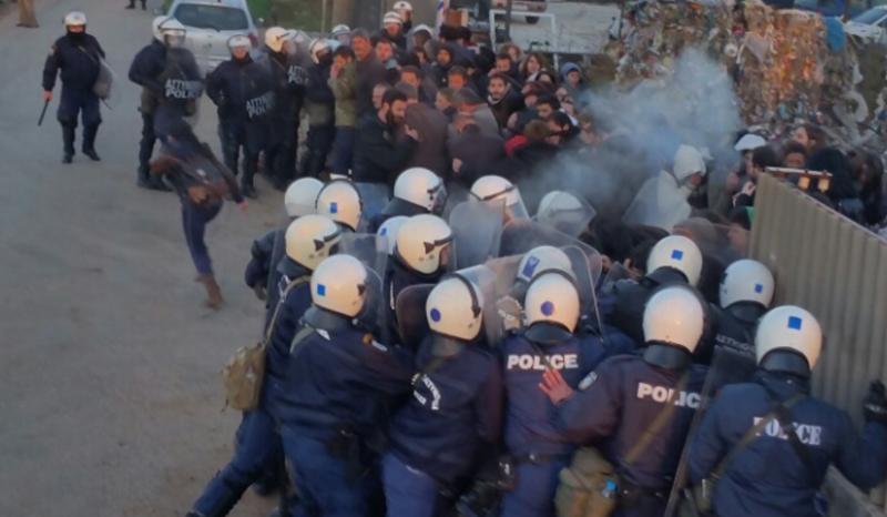 ΜΑΤ εναντίον απεργών εργατών στα Ιωάννινα | Enetpress
