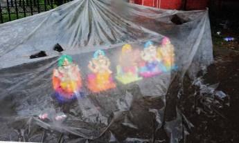 Jaipur, Rain, idols