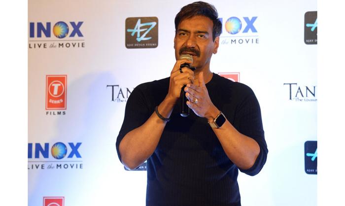 Ajay Devgn Bollywood actor Tanhaji The Unsung Warrior Kolkata