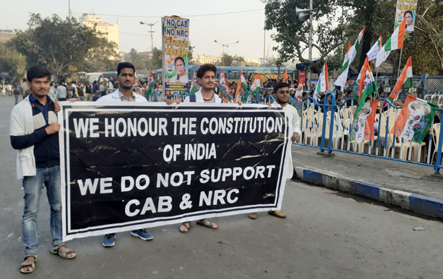 kashmir ayodhya caa and nrc protest citizenship west bengal opposition