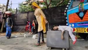 durga puja migrant workers bengal kolkata