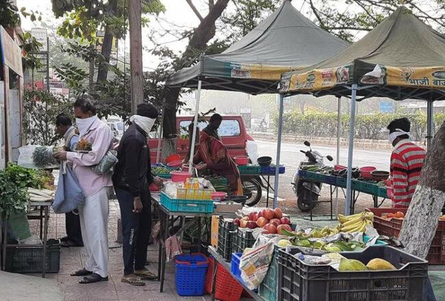 किसान किसानों बाज़ार लॉकडाउन और सब्जियांकोरोना कोल्हापुर महाराष्ट्र