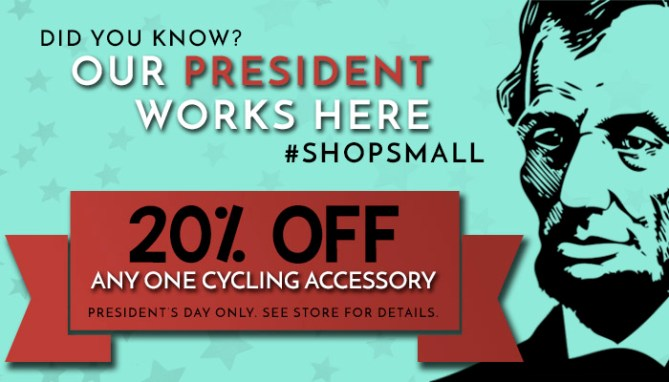 President's Day Offer at Asheville Bicycle Company