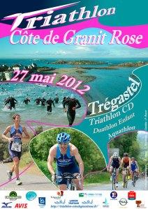 Affiche Triathlon Côte de Granit Rose 2012