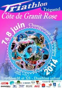 Affiche Triathlon Côte de Granit Rose 2014